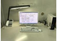 エアコン完備の作業風景