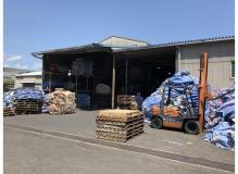 フレコンバッグの乾燥作業と結束作業