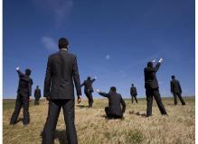 経理事務の作業風景
