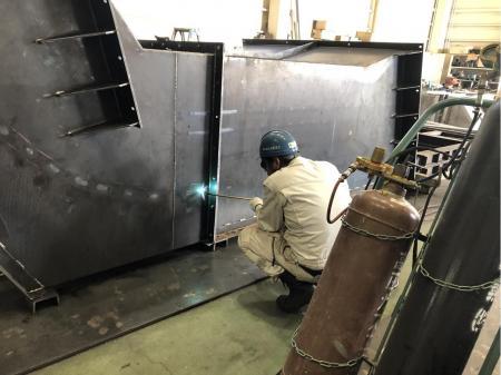 大手プラントメーカー向け製品の溶接や製缶作業(動画有り)