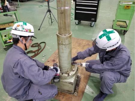 大手メーカーでの製品の部品組付けと装置の据え付け設置作業