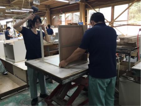 時間が選べる♪木製家具の組立・梱包作業(動画有り)