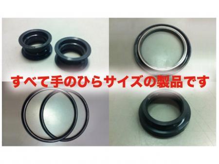 指輪サイズの小さなゴム部品の製造