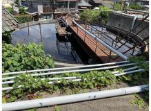 染色工場での廃水処理