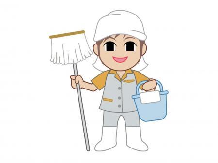 工場内の清掃業務