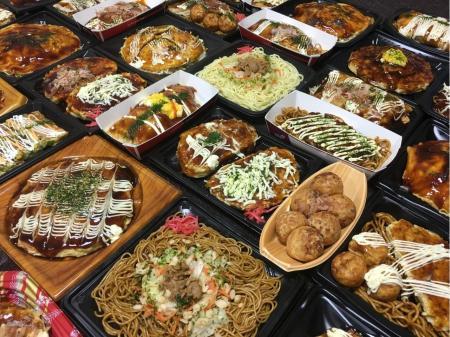 お好み焼きやたこ焼きなどの熊本工場での食品製造作業