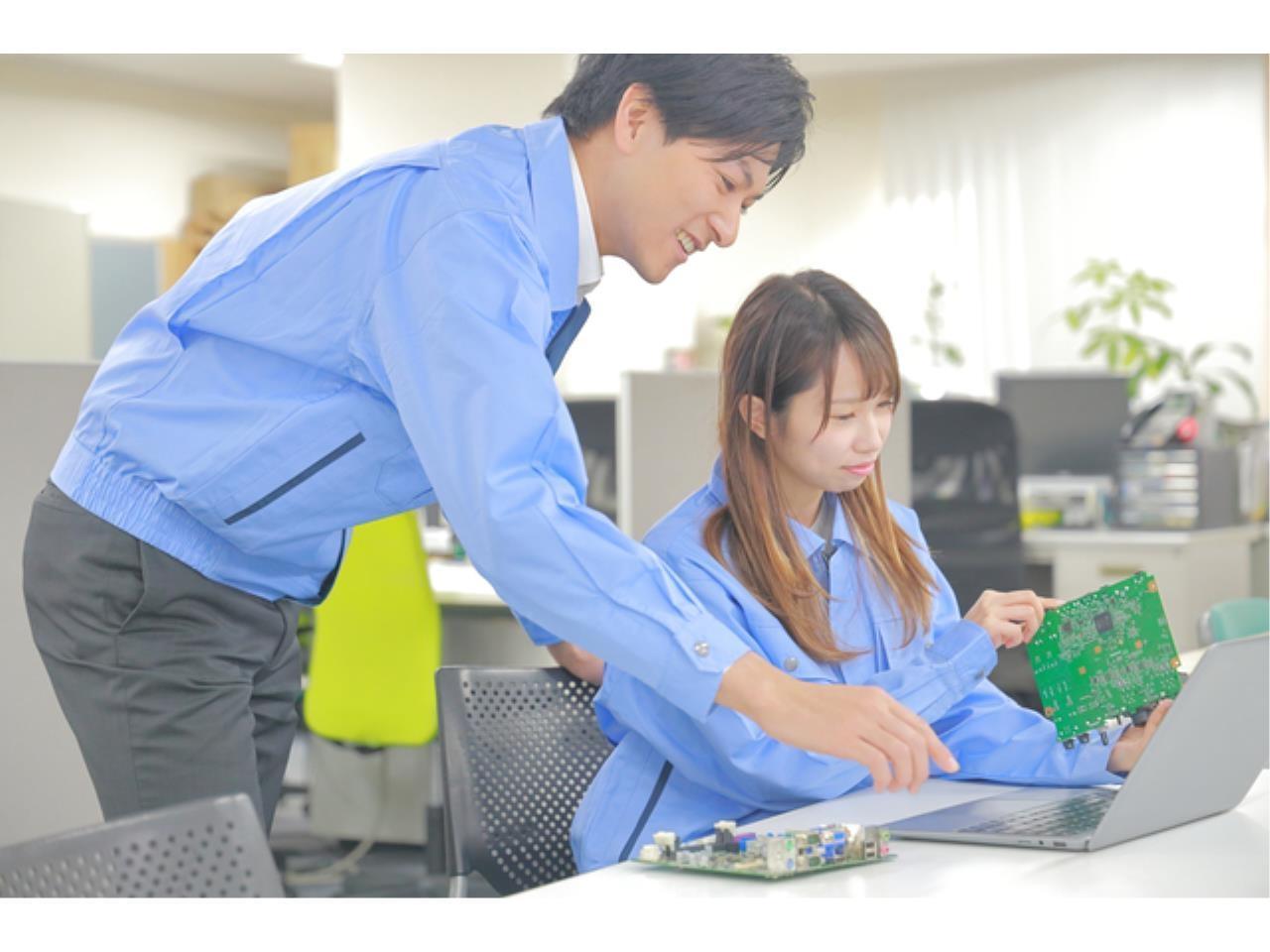 電子機器メーカーでの試作品の評価、調整業務