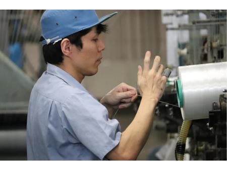 フラットヤーン・織物の製造