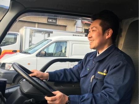 ゆとりをもって働ける食料品の近距離ルート配送ドライバー