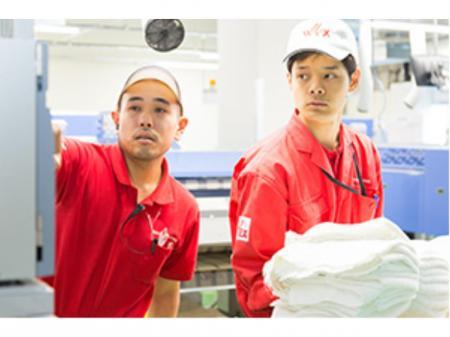 クリーニング工場内でのカンタン作業